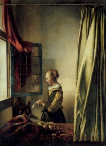 Girl Reading A Letter At An Open Window – Johannes Vermeer