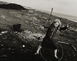 Helen and her hoola-hoop, Seacoal Camp, Lynemouth, Northumberland