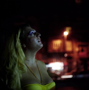 Tarlabasi avenue at night. Istanbul, Turkey. August 2010