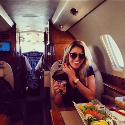 sushi at 30,000ft. by lizmargulies #flyprivate #privateroll